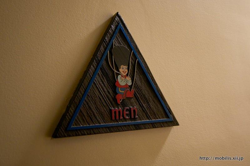 ピノキオ風トイレサイン