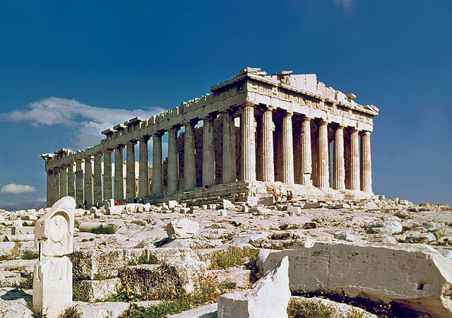 800px The Parthenon in Athens
