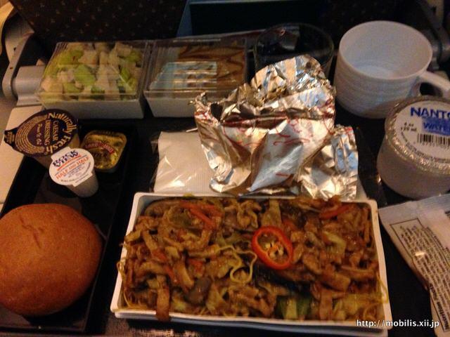 シンガポール航空 2度目の機内食