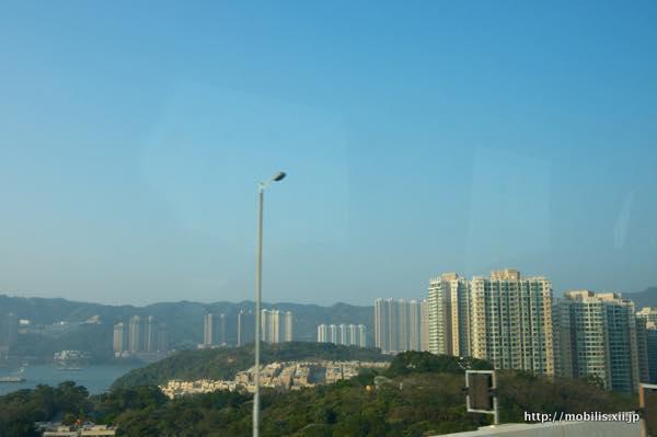 バスから見えた香港の景色