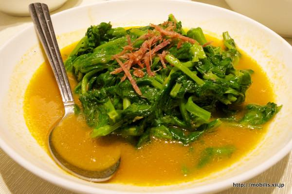 金満庭 青菜の炒め物