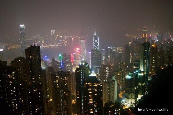 展望台からの香港の夜景