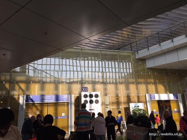 香港国際空港のバスターミナル