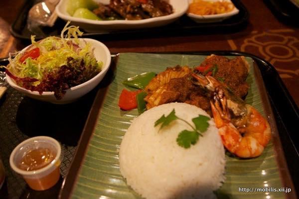 シンガポール風の料理