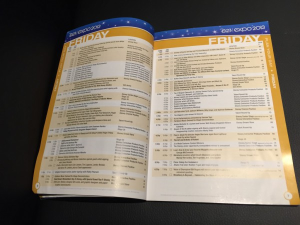 2013年のスケジュール。これが1日分なのだ。