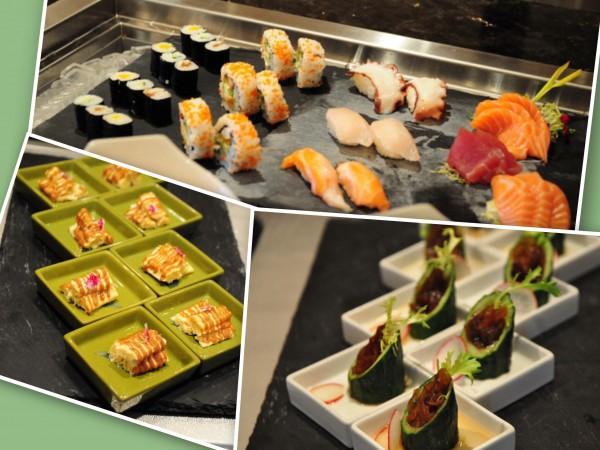 冷たい前菜シリーズとお寿司とお刺身